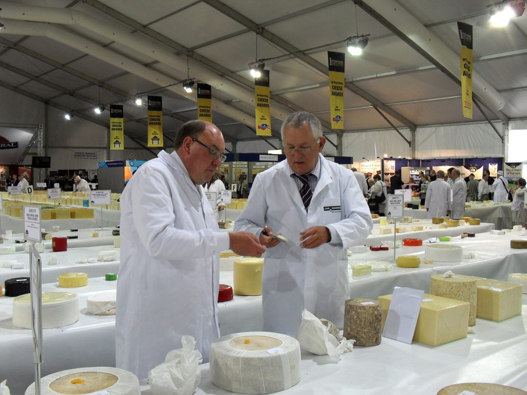 Peter Walker and others at Nantwich Cheese Awards 2010
