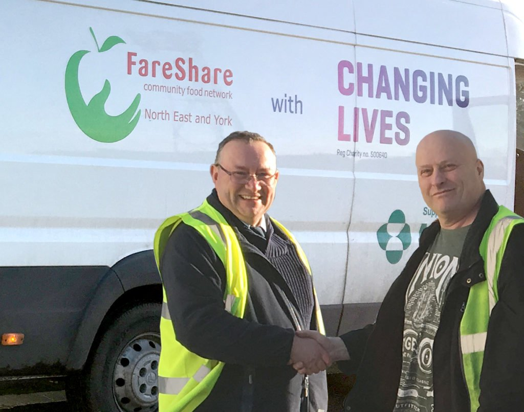 Warehouse Manager John Smith with the Fareshare Collection Van